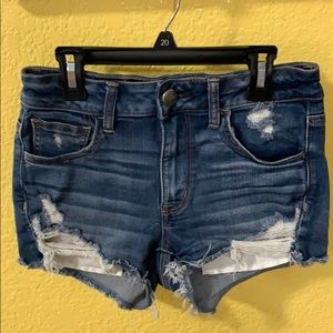 AmericanEagle Outfitters Distressed HiRise Shortie